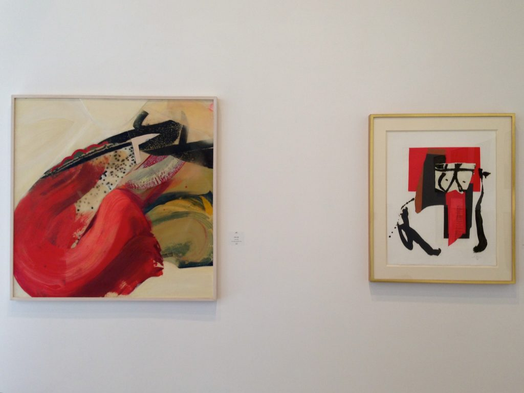 """Gesture Then and Now"" Installation, Phillis Ideal and Robert Motherwell at David Richard Gallery, 2014"